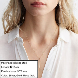 JUJIE Multitype 316L Stainless Steel Necklaces For Women 2020 Simple Luxury Chokers Pendants Necklace  Jewelry Dropshipping