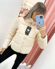 Load image into Gallery viewer, FORERUN Fashion Bubble Coat Solid Standard Collar Oversized Short Jacket Winter Autumn Female Puffer Jacket Parkas Mujer 2020