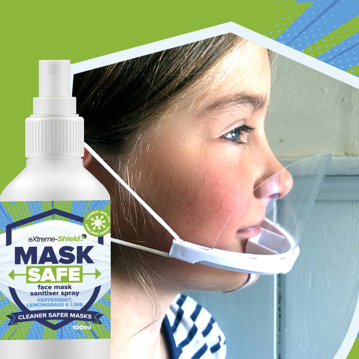 Mask spray & clear plastic face mask pack