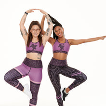 Load image into Gallery viewer, Signature On Purple Funky/Splash Sports Bra