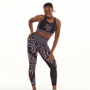 Signature On Black Vibrant Leggings