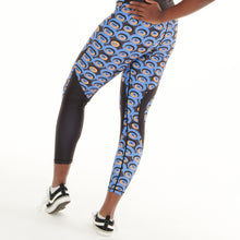 Load image into Gallery viewer, Siefay On Blue Vibrant Leggings