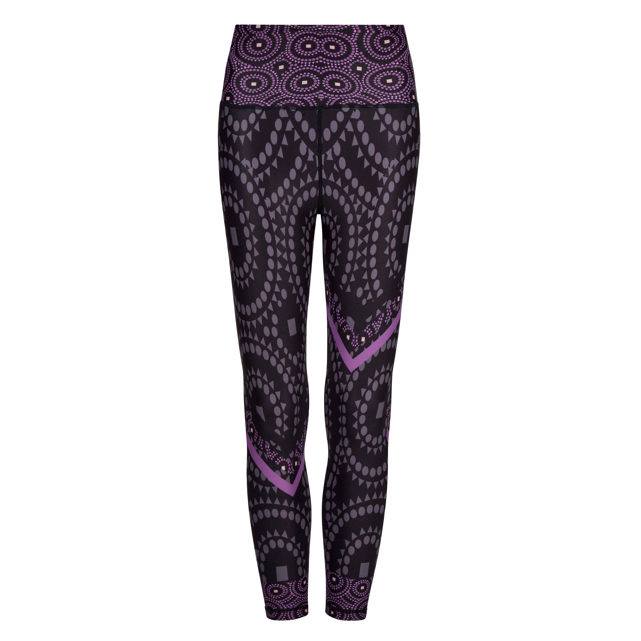 Signature On Purple Splash Leggings