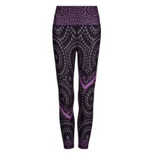 Load image into Gallery viewer, Signature On Purple Splash Leggings