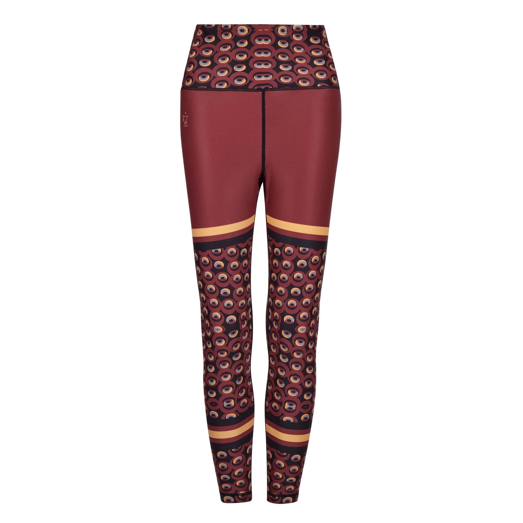 Siefay  On Iron Red Funky Leggings