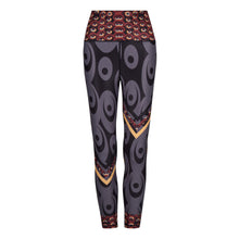 Load image into Gallery viewer, Siefay On Iron Red Splash Leggings