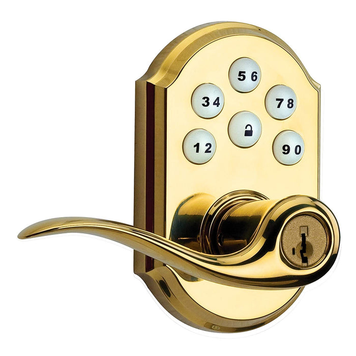 Z-Wave Smartcode Lever Lock - Polished Brass - 99120-039