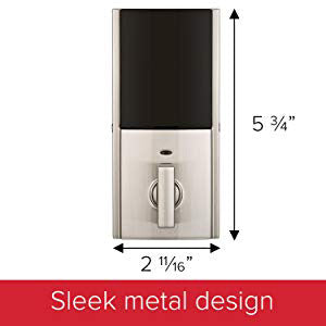 Kwikset Z-Wave Plus Smartcode Contemporary Deadbolt - Satin Nickel - 99140-019