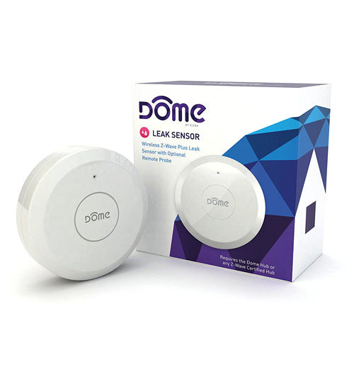 Dome Wireless Z-Wave Plus Leak Sensor With Remote Probe