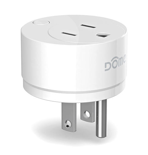 Dome On/Off Plug-In Switch with Energy Monitoring Z-Wave Range Extender, White - DMOF1