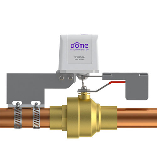 "Dome Z-Wave Plus Water Shut-Off Valve - For Pipes up to 1 1/2"" - DMWV1"