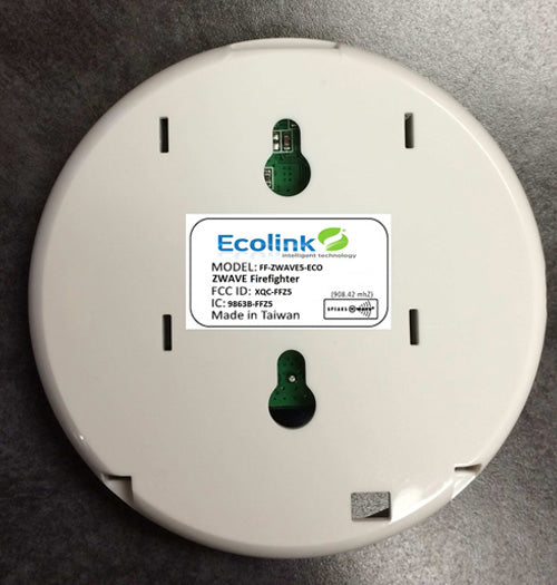 ECOLINK FireFighter- Fire and CO Audio Detector, Zwave Plus - FF-ZWAVE5-ECO