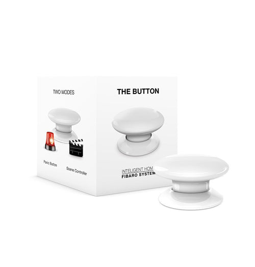 Fibaro The Button Z-Wave Scene Controller, White - FIBFGPB-101-1
