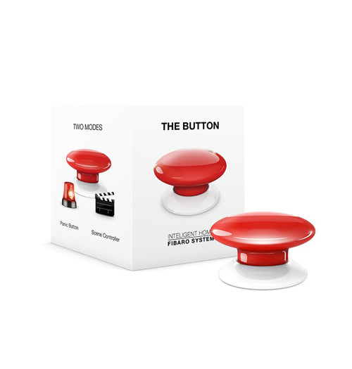 Fibaro The Button, Z-Wave Scene Controller, Red - FIBFGPB-101-3
