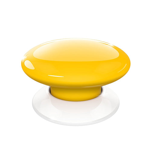 Fibaro The Button, Z-Wave Scene Controller, Yellow - FIBFGPB-101-4