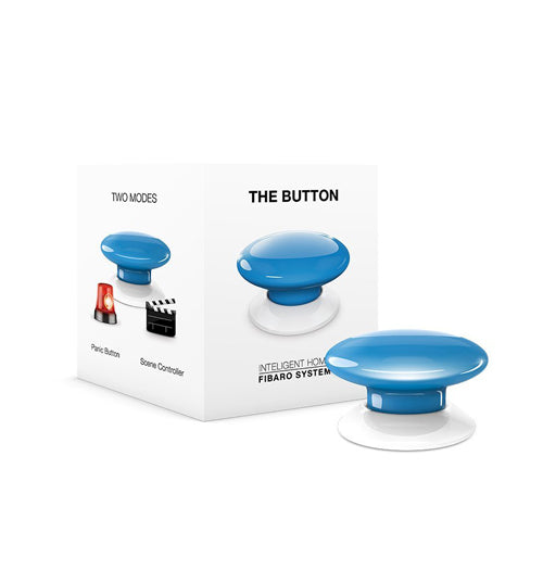 Fibaro The Button, Z-Wave Scene Controller, Blue - FIBFGPB-101-6