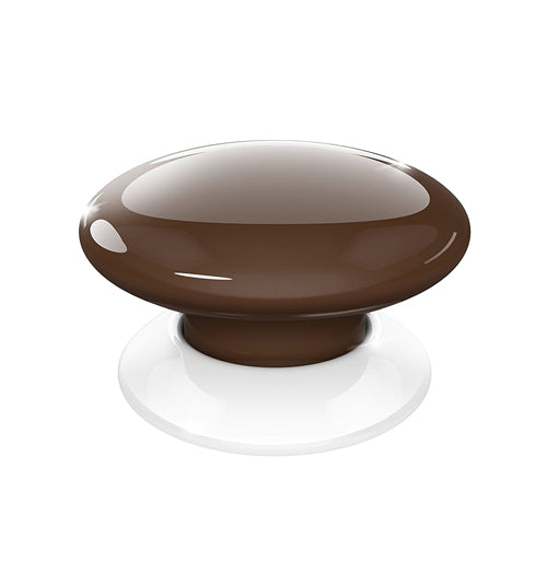 Fibaro The Button, Z-Wave Scene Controller, Brown - FIBFGPB-101-7
