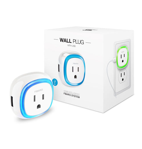 Fibaro Z-Wave Plus Wall Plug with USB - 2 Pack - FGWPB-121 ZW5-2