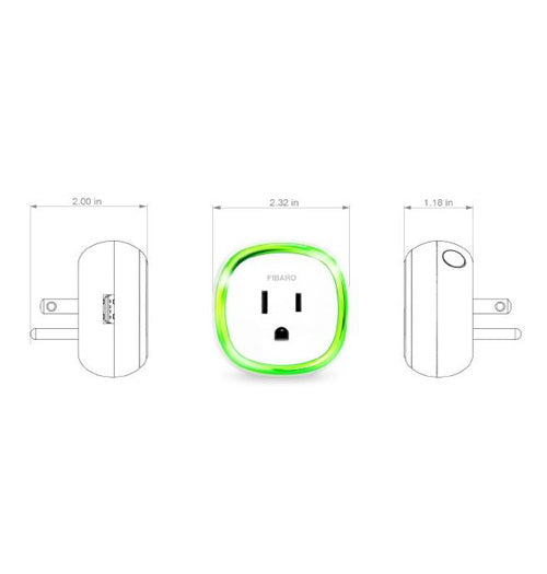Fibaro Z-Wave Plus Wall Plug with USB - FGWPB-121 ZW5