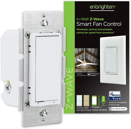 GE Enbrighten In-Wall Z-Wave Plus Smart Fan Control with SmartStart and S2 Security - 55258