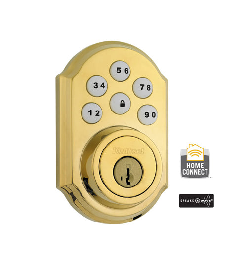 Z-Wave Smartcode Deadbolt - Polished Brass - 99100-077