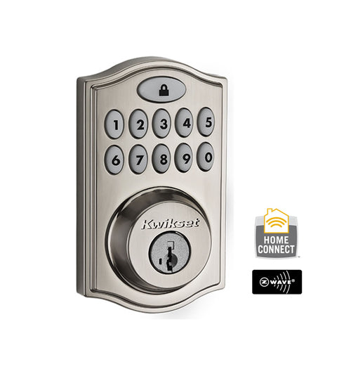 Z-Wave Motorized Deadbolt - Satin Nickel - 99140-023