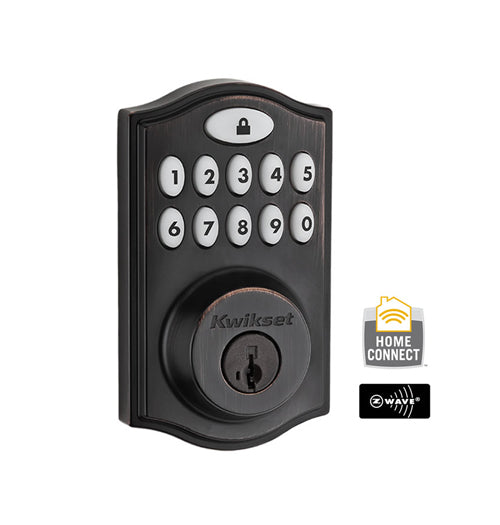 Z-Wave Motorized Deadbolt - Venetian Bronze - 99140-024