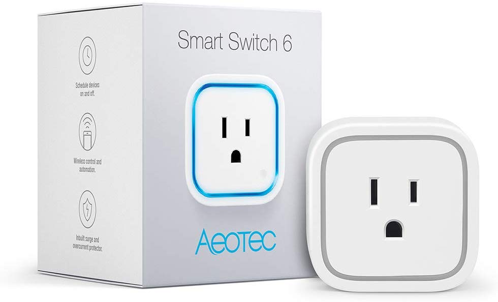 Aeotec Smart Switch 6, Z-Wave Plus, 15A Mini Size, Monitor Power, New Design without USB port - ZW110