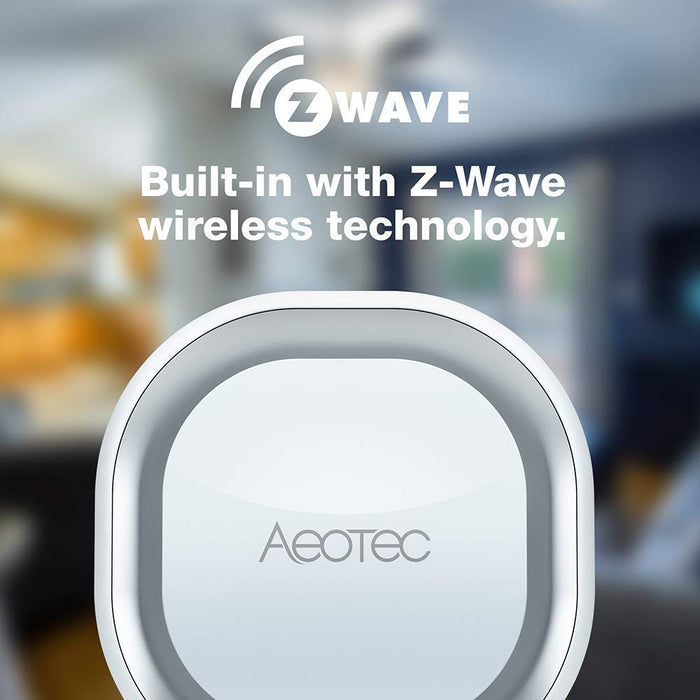 Aeotec Z-Wave Plus Doorbell 6 with Outdoor Button, Wall-Mounted Sound & Light Ring, Smart Home Wireless Chime, 110 dB - ZW162