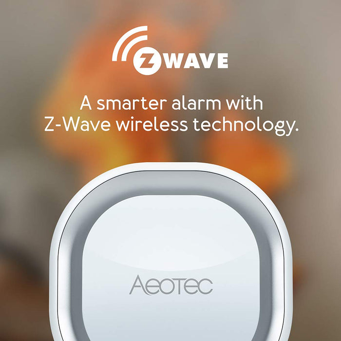 Aeotec Siren 6, Z-Wave Plus S2 Safety Speaker, Wall-Mounted Sound & Light Security Intruder Alarm with Backup Battery - ZW164