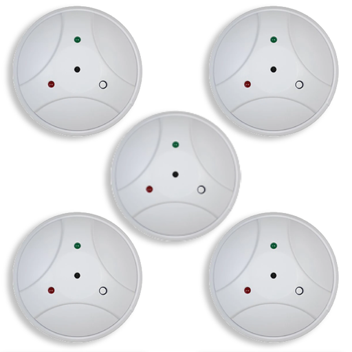 GOCONTROL Z-Wave SMART GLASS BREAK DETECTOR (Batteries NOT included) - 5-PACK - 0GB00Z-5