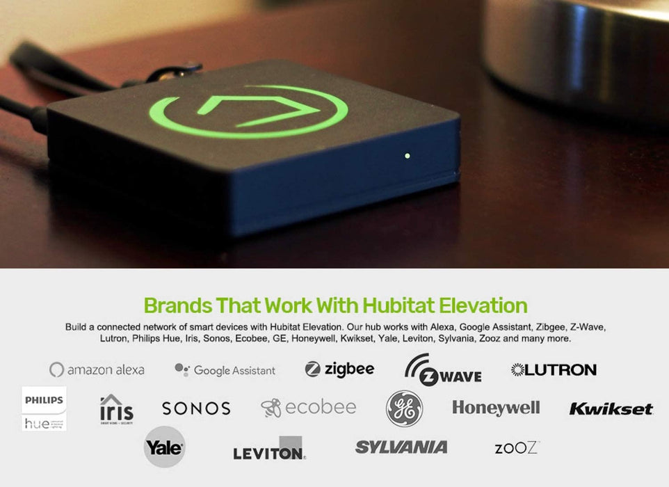 Hubitat S2 Z-Wave Plus Elevation Home Automation Hub Model C-7 Hub, Smart Start, 700 series