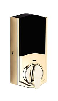 Kwikset 888ZW500-L03S SmartCode 888 Electronic Deadbolt with Z-Wave Plus Technology, Lifetime Polished Brass - 98880-006