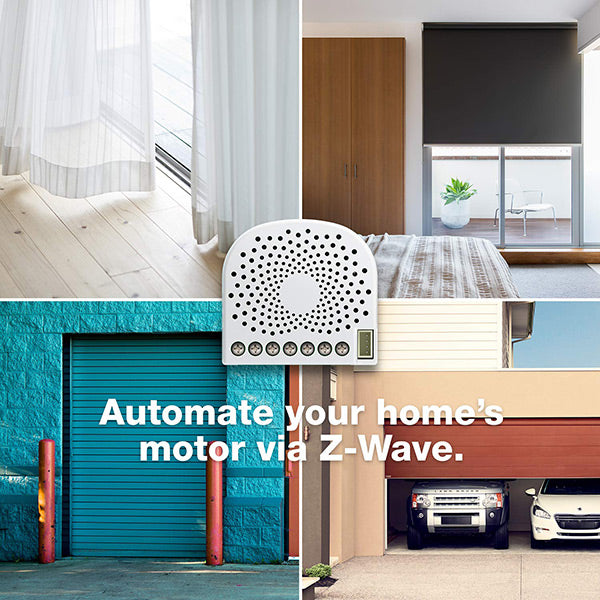 Aeotec Nano Shutter, Z-Wave Plus S2 Motor Driver On/Off/Stop Controller for Curtains, Window Blinds, Shades, Gates - ZW141