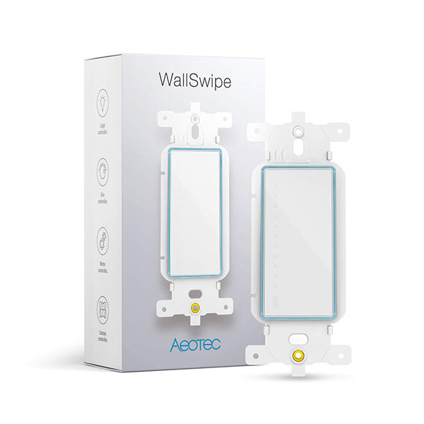 Aeotec WallSwipe, Wall Panel Controller with Slider for Dimmer Switches, Curtain Blinds, Appliance - ZW158