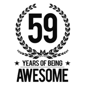 59 Years of Being Awesome Birthday Sayings Shirt, Birthday Gift - Lake Erie Goods