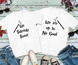 Couples Shirts, We Solemnly Swear, We Are Up To No Good Shirts - Lake Erie Goods