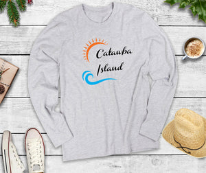 Catawba Island Long Sleeve Shirt, Catawba Island Ohio, Wave Shirt
