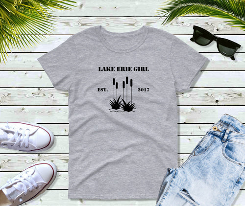 Lake Erie Girl T-Shirt, Lake Erie Cattails Shirt, Lake Shirt