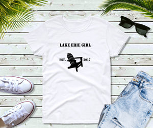 Lake Erie Girl T-Shirt, Lake Erie Chair Shirt, Lake Shirt