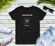 Load image into Gallery viewer, Lake Erie Girl T-Shirt, Lake Erie Compass Shirt, Lake Shirt