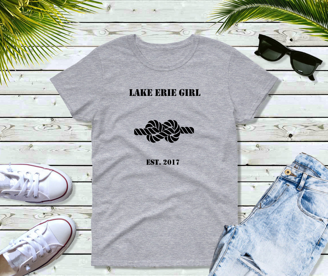 Lake Erie Girl T-Shirt, Lake Erie Knot Shirt, Lake Shirt
