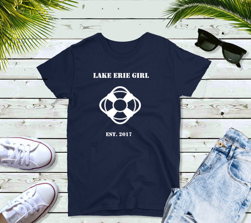 Lake Erie Girl T-Shirt, Lake Erie Lifering Shirt, Lake Shirt