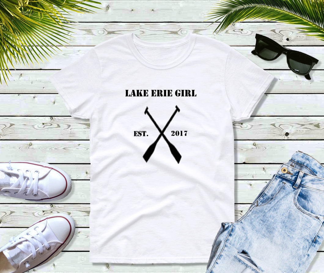 Lake Erie Girl T-Shirt, Lake Erie Oars Shirt, Lake Shirt