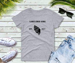 Lake Erie Girl T-Shirt, Lake Erie Seashell Shirt, Lake Shirt