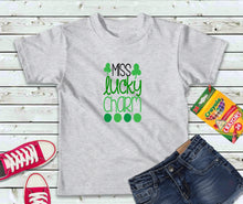Load image into Gallery viewer, Miss Lucky Charm T-Shirt, Girls Shirt, St Patricks Day Kids Shirt - Lake Erie Goods