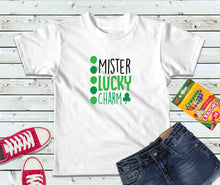 Load image into Gallery viewer, Mister Lucky Charm Shirt, Boys Shirt, St Patricks Day Shirt, Kids Shirt - Lake Erie Goods