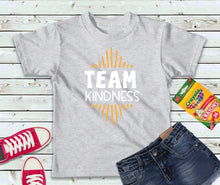 Load image into Gallery viewer, Team Kindness Shirt, Kindness T-Shirt, Kids Shirt - Lake Erie Goods