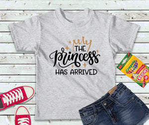 The Princess Has Arrived, Girls T-Shirt, Kids Shirt - Lake Erie Goods