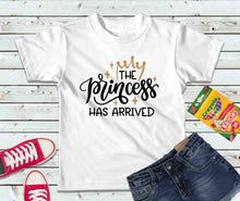 Load image into Gallery viewer, The Princess Has Arrived, Girls T-Shirt, Kids Shirt - Lake Erie Goods